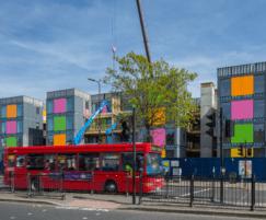 Colourful VIVIX® façade