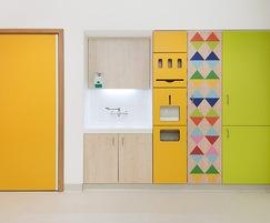 Bright designs created using Formica® laminate
