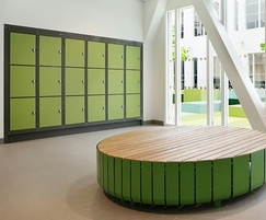 Formica® laminates for lockers and benches