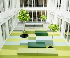 The school's atrium space