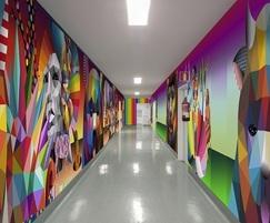 Digitally rendered bespoke laminate wall panels