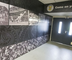 Bespoke laminate design for football club tunnel