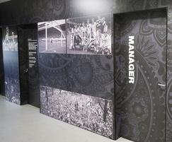 Bespoke laminate design for football club