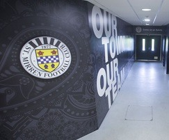 Supporters' tunnel at St Mirren Football Club