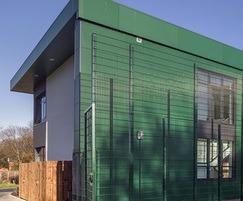 VIVIX® exterior cladding panels in Hunter Green