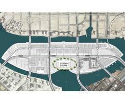 Water features, Sowwah Square, Abu Dhabi