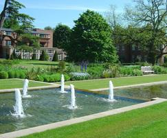 Fountains and water features at The Grove, Watford