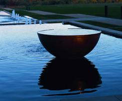The Bowl water feature at The Grove, Watford