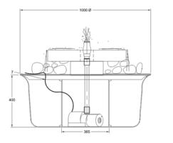GSA900M Millstone fountain kit