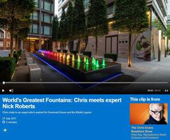Fountains Direct: Nick from Fountains Direct on the Chris Evans show