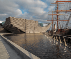 Shallow water mirror and reflection pools, V&A Dundee