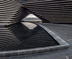 Reflective water feature, V&A Dundee