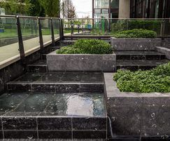 Cascade water feature, Riverlight Building BC
