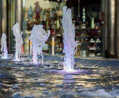 Illuminated fountains, Lisburn Town Centre