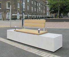 Fortis concrete and timber seat with half platform