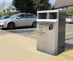 CAL650 S Caledonian Recycling stainless steel bin