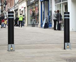 KEN122 R double neck powder coated removable bollards