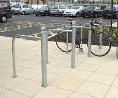 LTB612 Linx curved rail cycle stand with Trafford cap