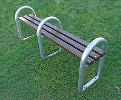 DST 7 District bench with steel standards and recycled