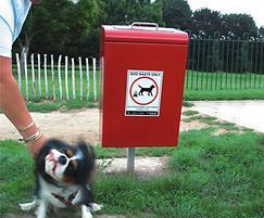 LUK745F Lucky steel dog waste bin