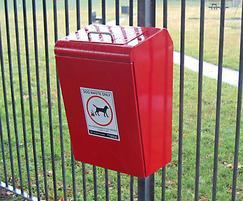 LUK745P Lucky steel post wounted dog waste bin