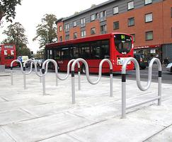 Morden cycle stands with end cycle stand & tapper rail