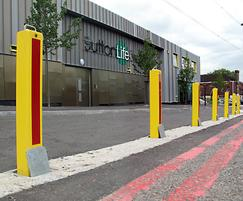 TPS700 PPC telescopic bollards with reflective strips