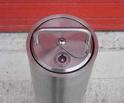 TPR 300 stainless steel bollard detail