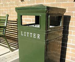 COV702 Covent Garden cast iron Square litter bin