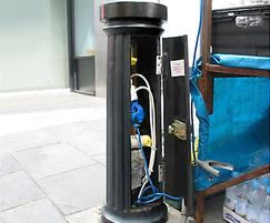 Doric major service bollard, electrical version