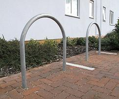 DST750 District galvanised steel cycle stands, Essex