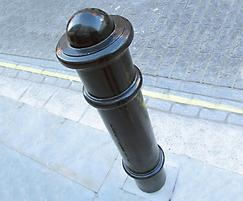 Cannon cast iron bollard