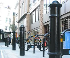 Cannon cast iron bollards