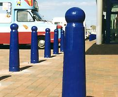 GUN 503 Gunner cast iron bollards, painted blue