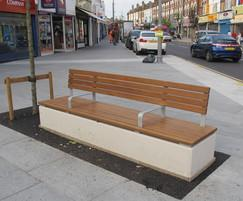 Fortis concrete and timber seat with full platform