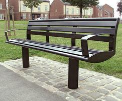 Zenith seat, all steel, powder coated black
