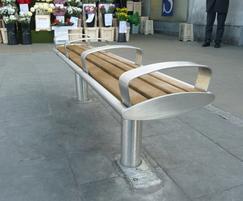 Zenith removable bench, ZENB6 A, Wimbledon Regeneration