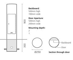 ZEN707 S Zenith satinless steel service bollard- detail