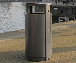 ARC5- PPC grey bin with stainless steel lid