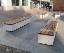 Fortis concrete and timber seat & bench