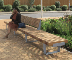RailRoad benches provide flexible seating systems