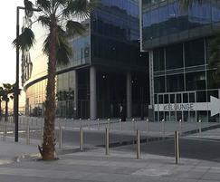 Zenith sloped bollards outside Dubai Design Disrtrict
