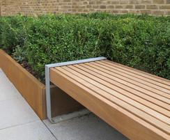 Timber bench slats, timber fascias