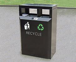 CAL650 PPC Caledonian Dual Recycling bin in black