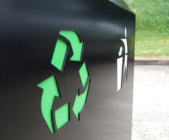 CAL650 PPC Caledonian recycling bin laser cut detail