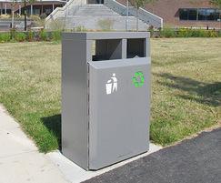 CAL650 PPC Caledonian Dual Recycling bin in grey