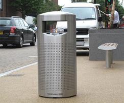 ZEN500 Zenith stainless steel perforated litter bin