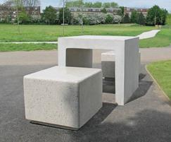 COT900 Core picnic table and COS650 R  seating block