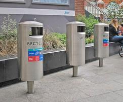 ZEN560 stainless steel recycling & litter bins