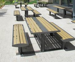 Zenith freestanding picnic benches and table
